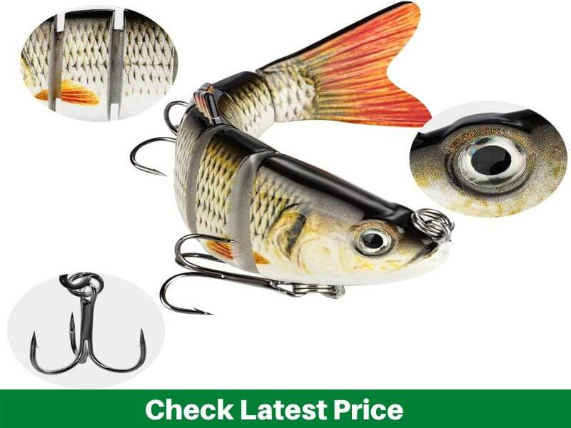 CharmYee Topwater Bass Swimbaits Pack of 3