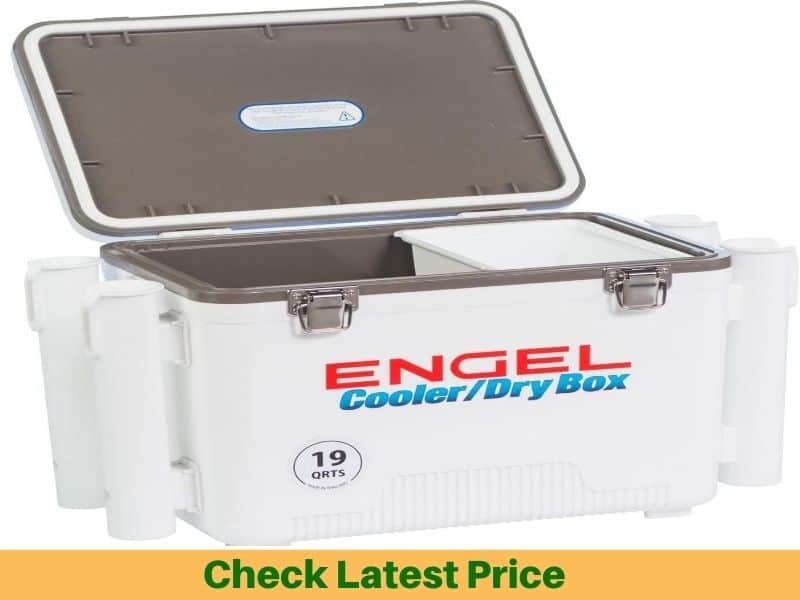 Air-Tight Cooler with Rod Holders