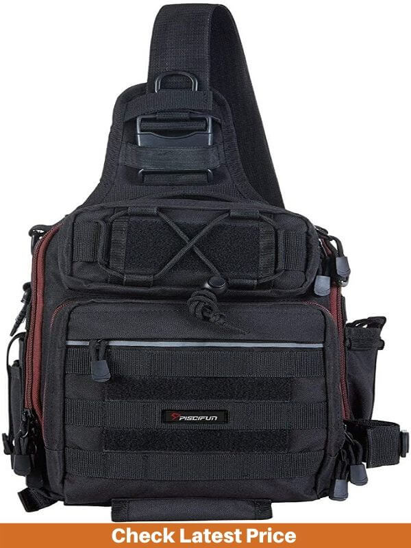 Piscifun Fishing Tackle Bag with Rod Holder