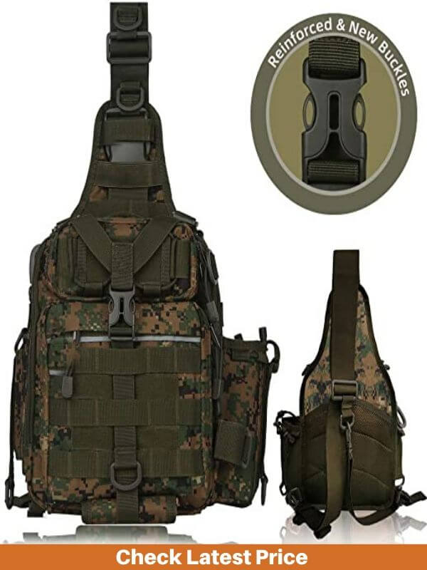 BLISSWILL Fishing Backpack with Rod Holder